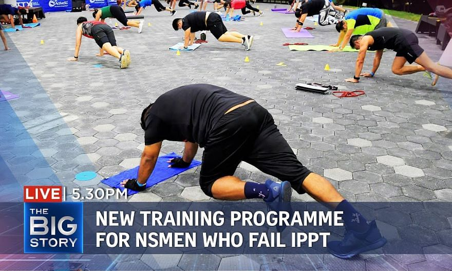 New fitness improvement training programme for NSmen who cannot pass IPPT | THE BIG STORY