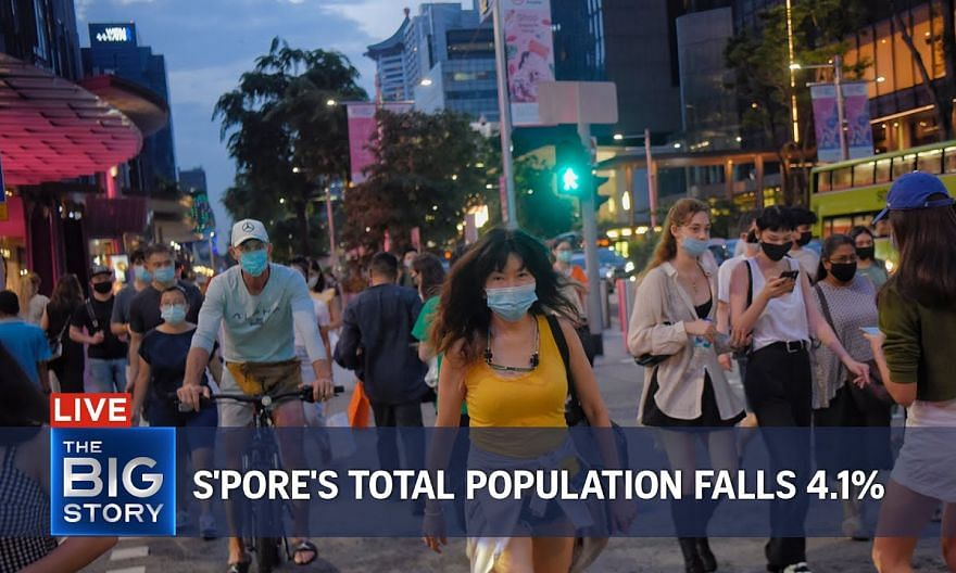 Singapore's total population shrinks by 4.1% as Covid-19 hits non-resident numbers | THE BIG STORY