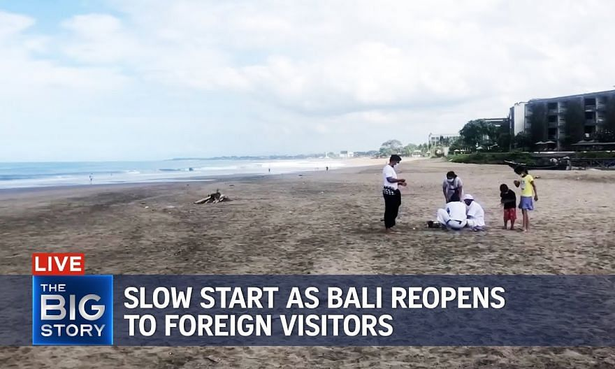 Slow, gloomy start as Bali reopens to foreign visitors | THE BIG STORY