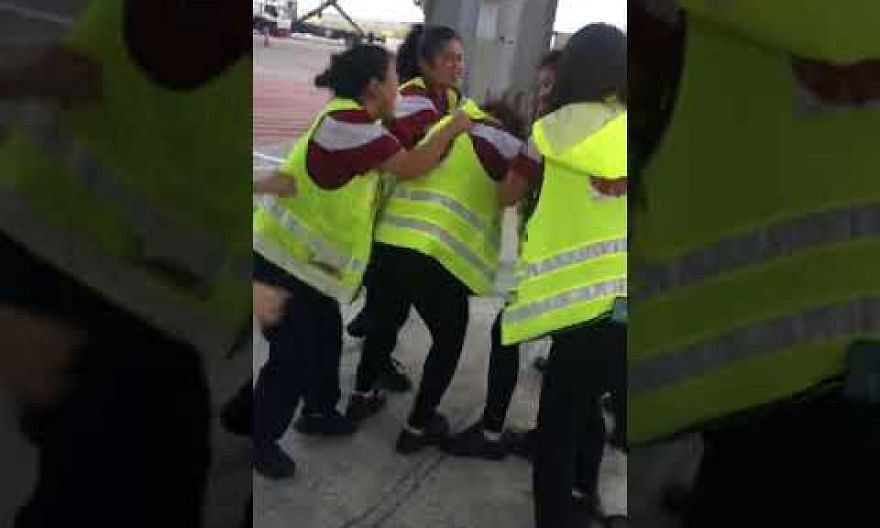 Sats staff get into fight on tarmac at Changi