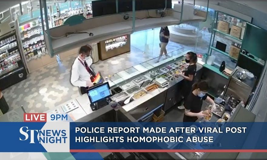 Police report made after viral post highlights homophobic abuse   ST NEWS NIGHT