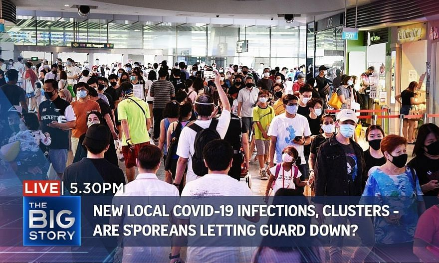 New local Covid-19 infections, clusters - are S'poreans letting guard down   THE BIG STORY