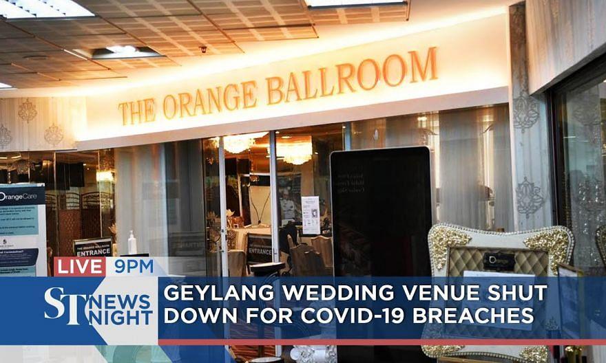 Geylang wedding venue shut down for Covid-19 breaches | ST NEWS NIGHT