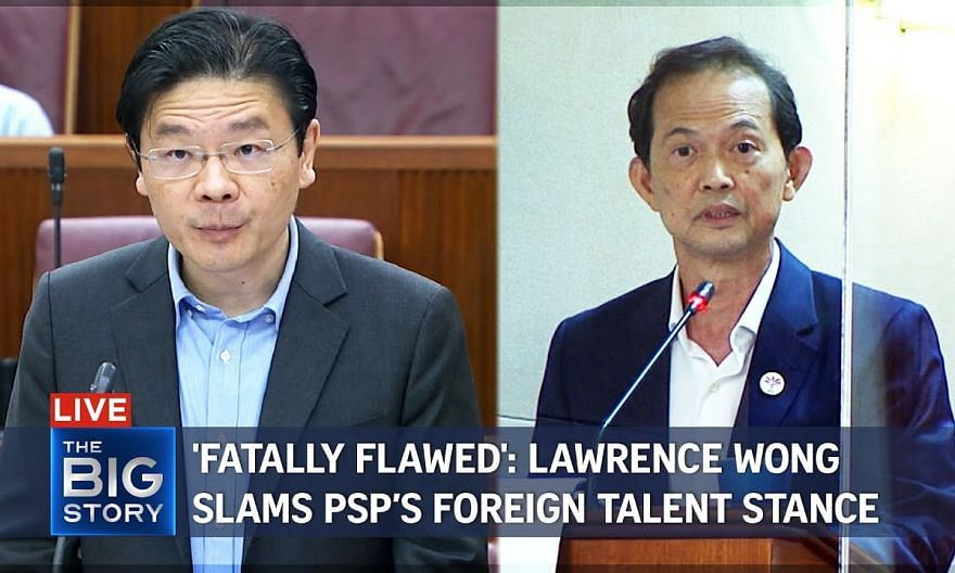 Lawrence Wong hits back at PSP's criticism of Foreign Talent Policy   THE BIG STORY