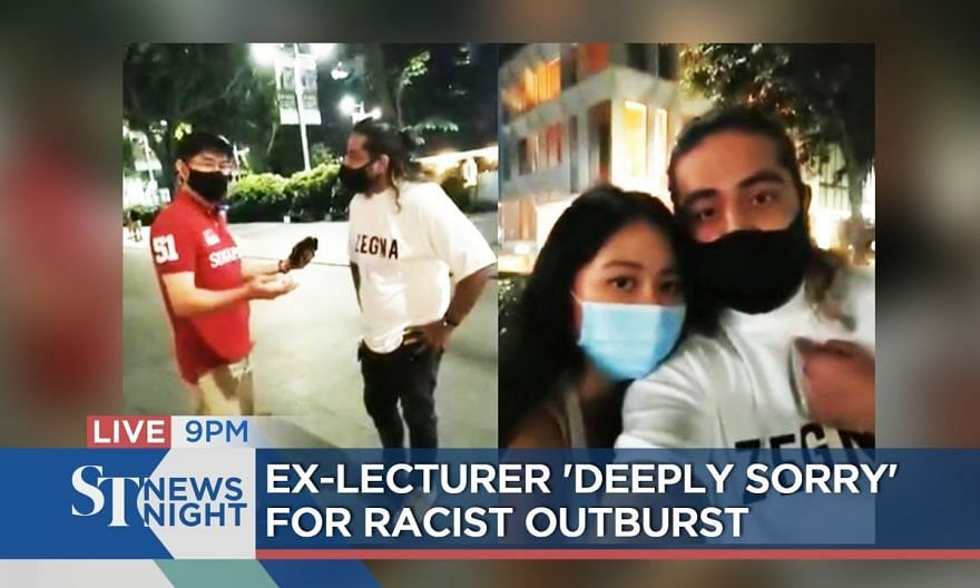 Ex-lecturer 'deeply sorry' for racist outburst | ST NEWS NIGHT