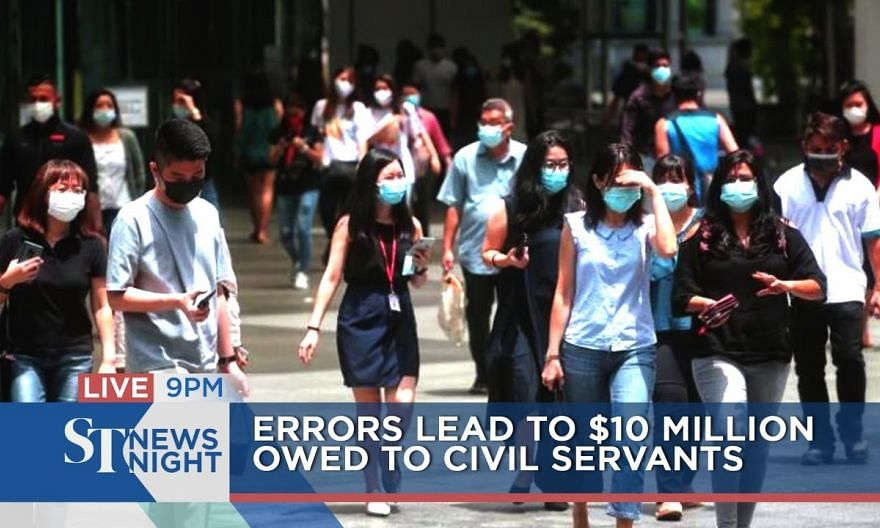 Errors lead to $10 million compensation to civil servants | ST NEWS NIGHT