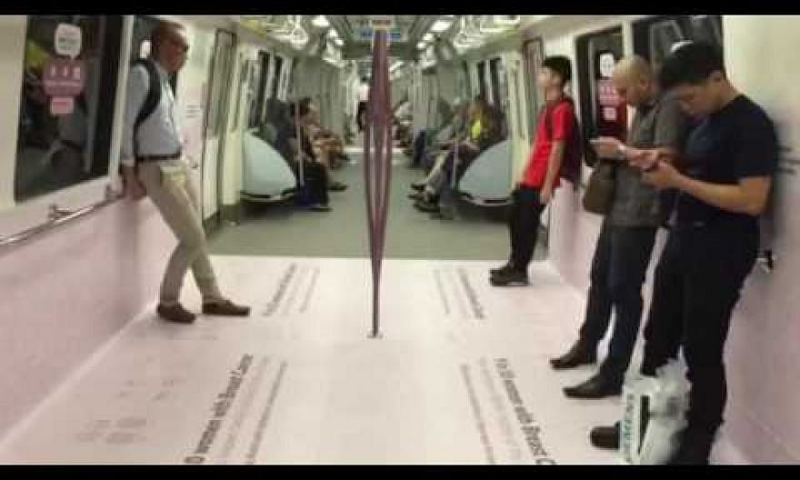 SMRT rolls out pink cabin train to promote breast cancer awareness