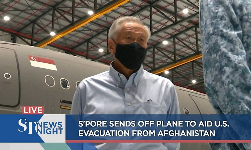 S'pore sends off plane to aid U.S. evacuation from Afghanistan | ST NEWS NIGHT