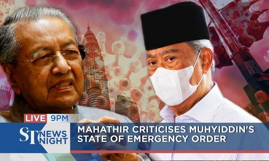Mahathir criticises Muhyiddin's Emergency Order | ST NEWS NIGHT