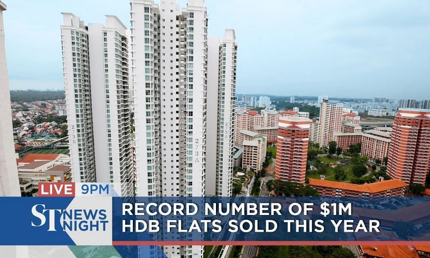 Record number of $1 million HDB flats sold this year | ST NEWS NIGHT