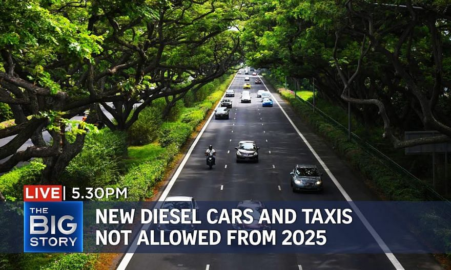 No more new diesel cars, taxis on S'pore's roads from 2025 | THE BIG STORY