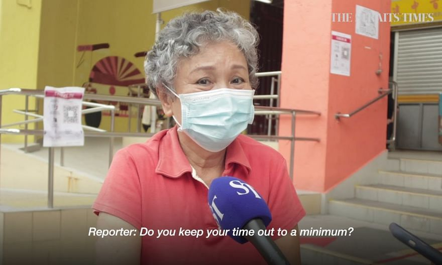Seniors finding it hard to stay home –  Madam Chan Sock Cheng