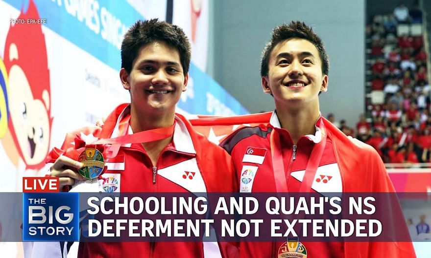 Schooling and Quah's National Service deferment not extended | THE BIG STORY
