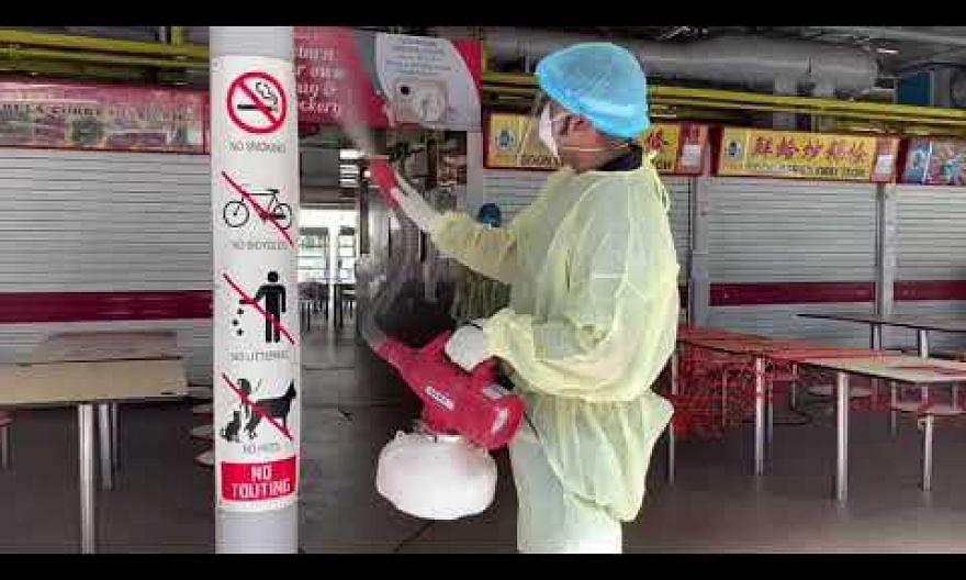Deep cleaning at Block 75 Toa Payoh Lorong 5