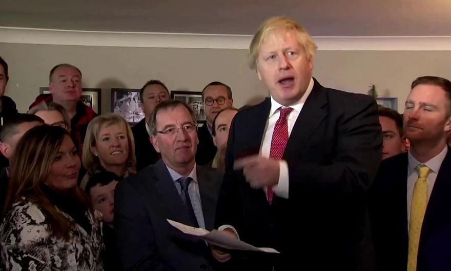 British PM Johnson celebrates election win on trip to north