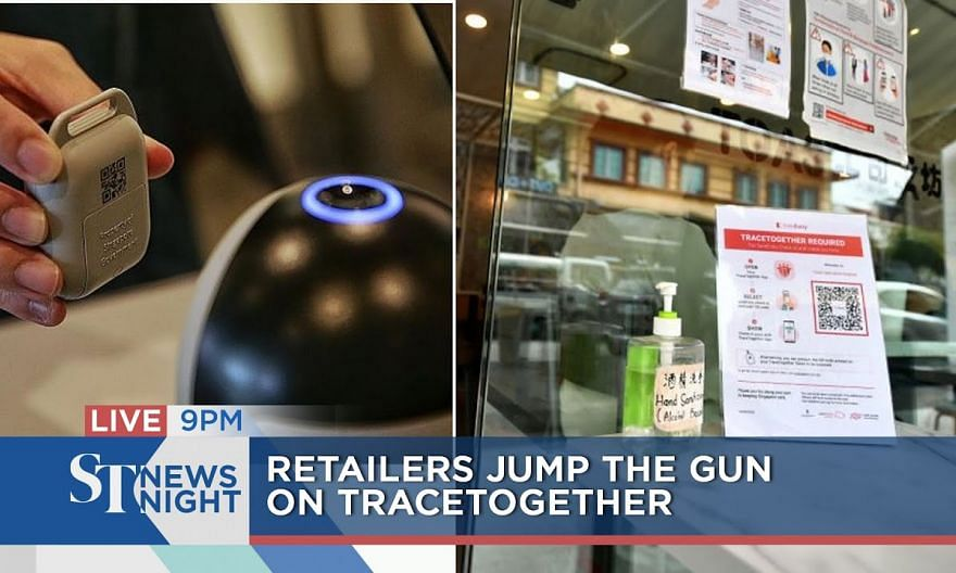 Authorities step in as retailers jump the gun on TraceTogether   ST NEWS NIGHT