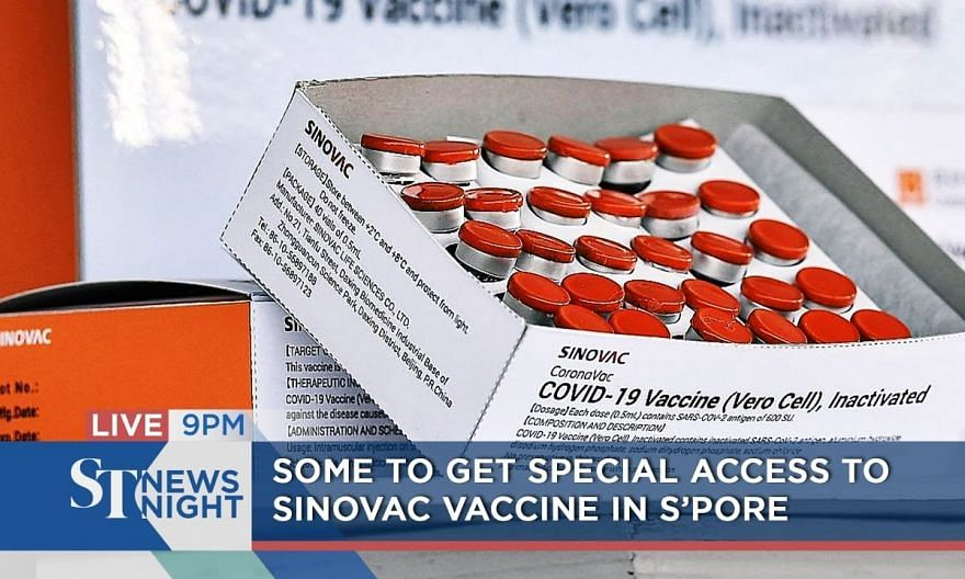 Some to get special access to Sinovac vaccine in S'pore | ST NEWS NIGHT