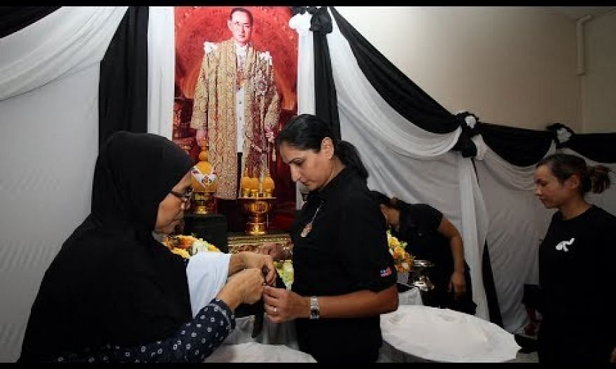Busy preparation in Ipoh for the late Thai king's religious ceremony