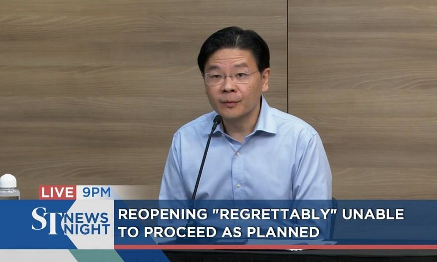 """Reopening """"regrettably"""" unable to proceed as planned 