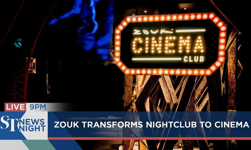 Zouk transforms nightclub to cinema | 123,000 affected during breakdown on Oct 14 | ST NEWS NIGHT