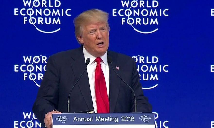 'America is open for business': Trump in Davos