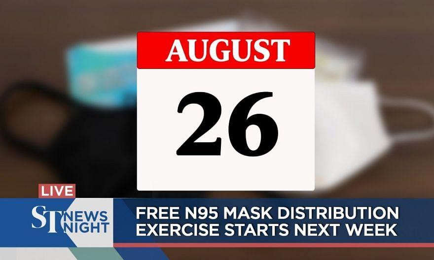Free N95 mask distribution exercise starts next week | ST NEWS NIGHT