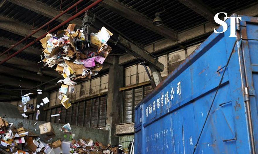 Trash piles up in Taiwan following Covid-19 curbs