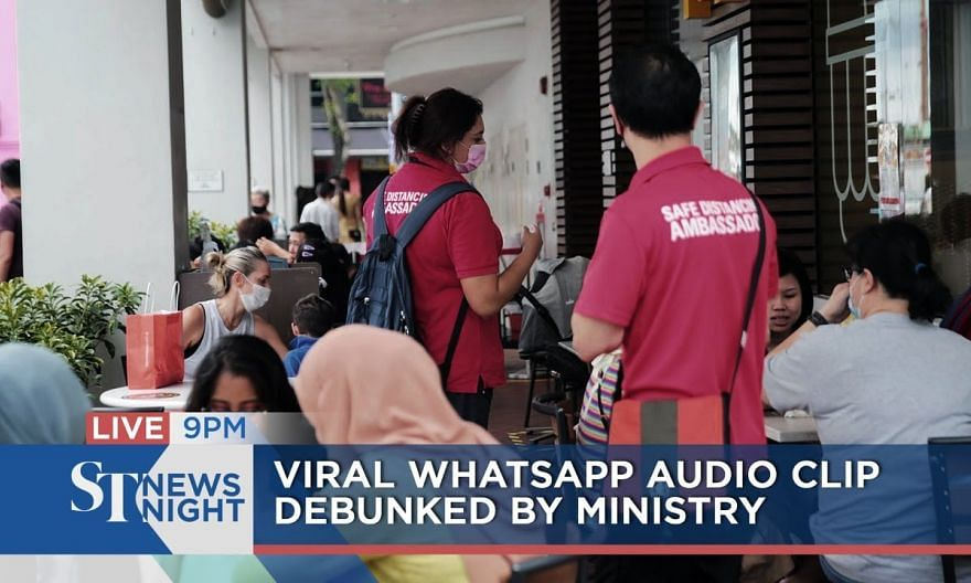 Viral Whatsapp audio clip debunked by ministry   ST NEWS NIGHT