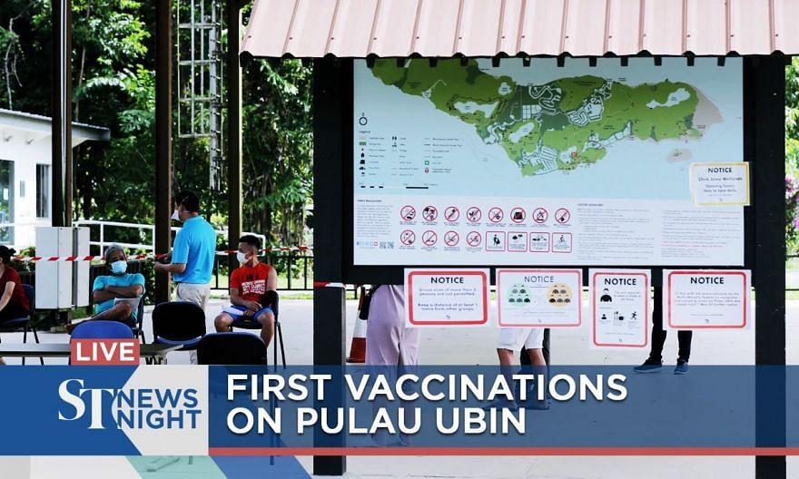 First vaccinations on Pulau Ubin | ST NEWS NIGHT