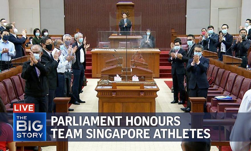 Parliament honours Team Singapore, raises issue of cash rewards for para-athletes | THE BIG STORY