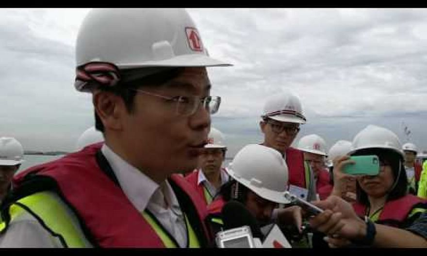 Minister Lawrence Wong on the new land reclamation method for Pulau Tekong