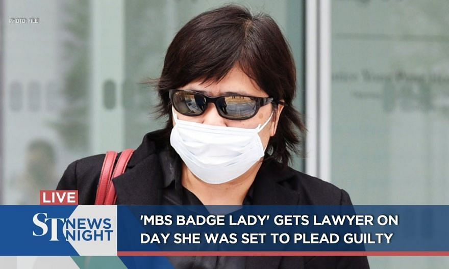 'MBS badge lady' gets lawyer on day she was set to plead guilty | ST NEWS NIGHT