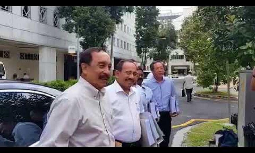 Presidential hopeful Farid Khan arriving at ELD
