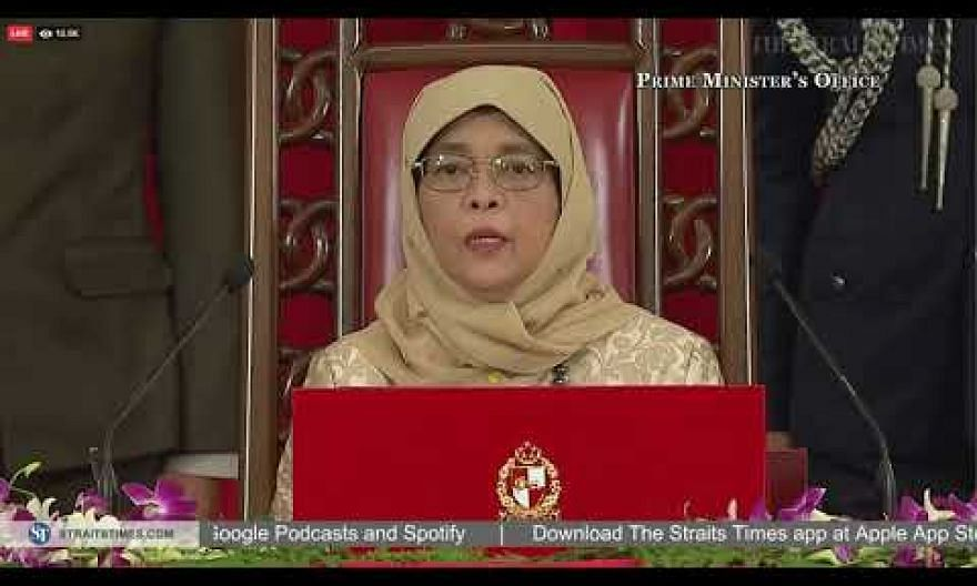 President Halimah's speech at the swearing-in ceremony for Singapore's new Cabinet