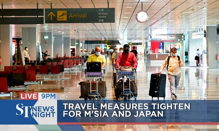 Travel measures tighten for Malaysia and Japan | ST NEWS NIGHT