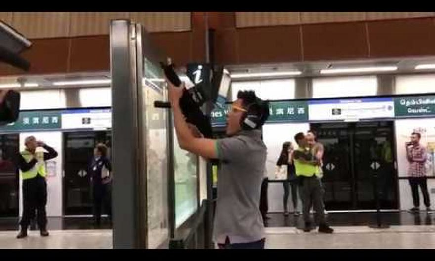 Simulated terror attack at Tampines West MRT station