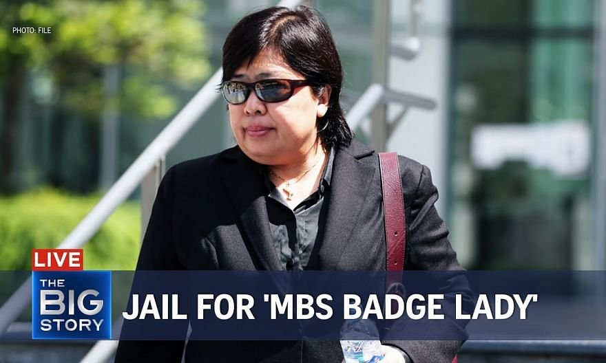 16 weeks' jail for 'MBS badge lady' | THE BIG STORY
