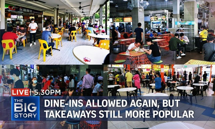 Dine-in services allowed again, but customers still opting for takeaways   THE BIG STORY