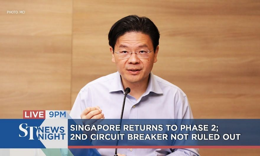 S'pore returns to Phase 2; 2nd Circuit Breaker not ruled out | ST NEWS NIGHT
