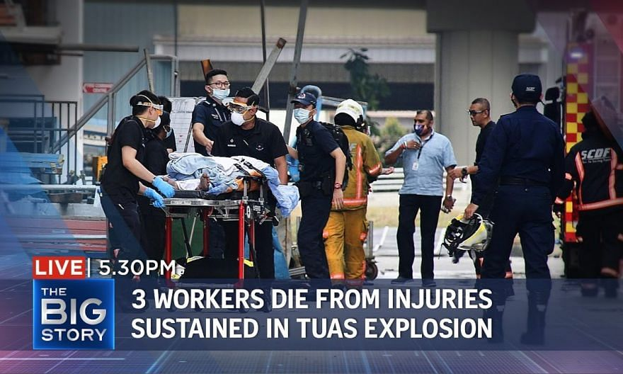 Tuas explosion leaves 3 workers dead, 5 in critical condition | THE BIG STORY