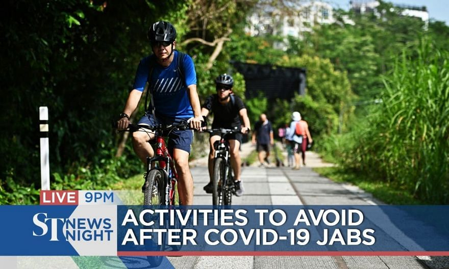 Activities to avoid after Covid-19 jabs | ST NEWS NIGHT