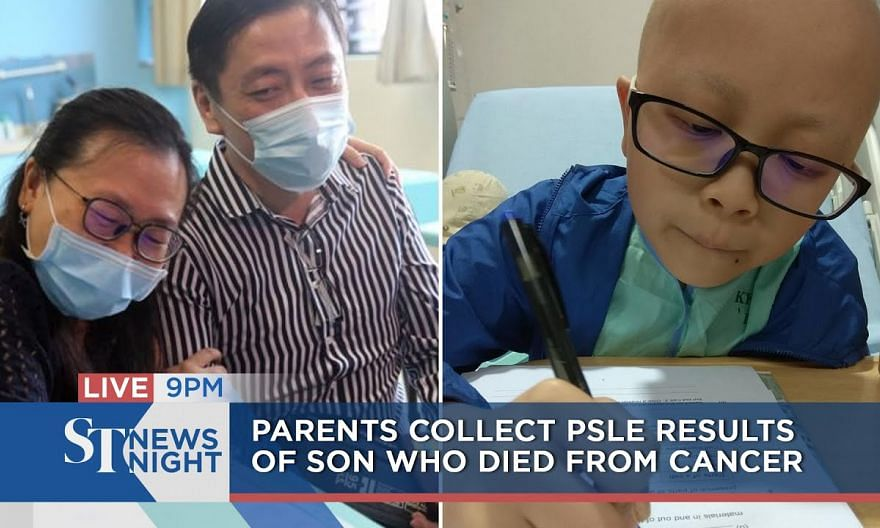 Parents collect PSLE results of son who died from cancer | ST NEWS NIGHT