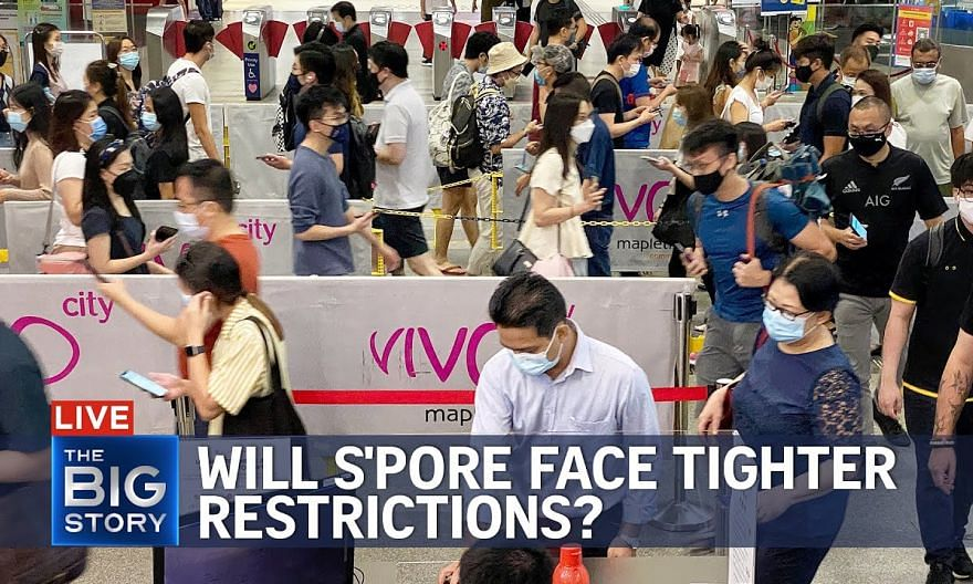 New Covid-19 cases, hospitalised patients above 1,000 – will S'pore face more curbs?   THE BIG STORY