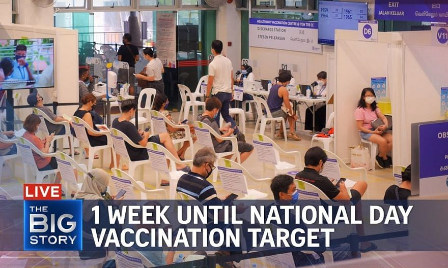 61% of Singapore population fully vaccinated with 1 week until National Day target   THE BIG STORY
