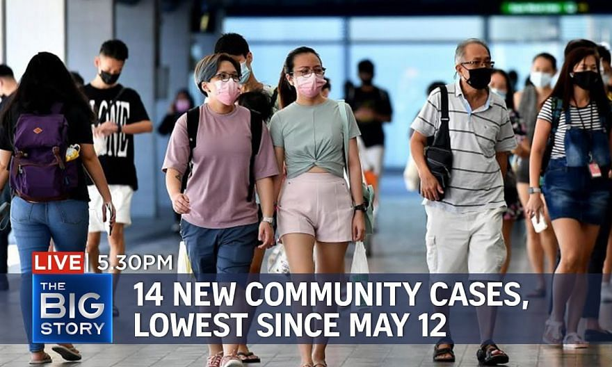 14 new Covid-19 community cases, lowest since May 12 | THE BIG STORY