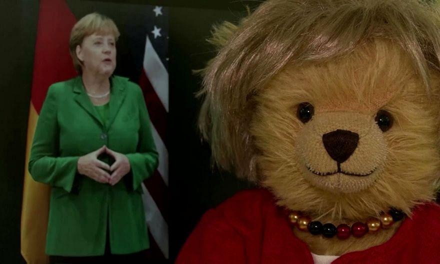 Angela Merkel honoured with teddy bear