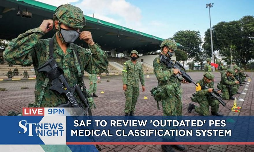 SAF to review 'outdated' PES medical classification system | ST NEWS NIGHT