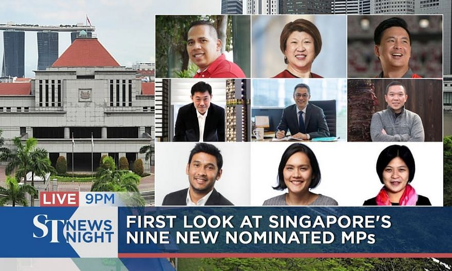 First look at Singapore's nine new Nominated MPs   ST NEWS NIGHT