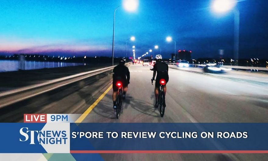 S'pore to review cycling on roads | ST NEWS NIGHT