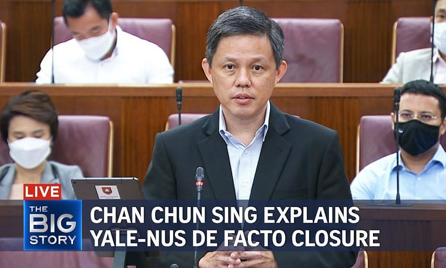 High costs not main reason in Yale-NUS merger decision, says Chan Chun Sing   THE BIG STORY